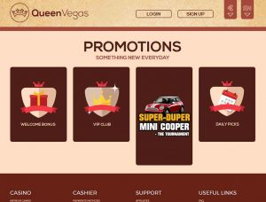 Queen Vegas Casino Screenshot #1
