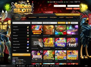 VideoSlots Casino Screenshot #1